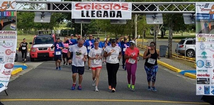 La carrera comenzó a las 7:30 a.m., en la carretera 189, frente al Jardín El Patio, en Caguas y terminó en la Academia de la Policía en Gurabo, Puerto Rico. (Suministrada)