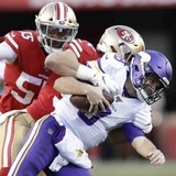 Defensa de los 49ers sofoca a los Vikings