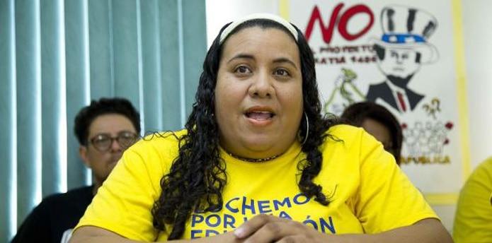 Mercedes Martínez, presidenta de la Federación de Maestros de Puerto Rico. (Archivo)