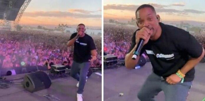 Will Smith sorprende al cantar en Coachella junto a su hijo Jaden Smith (Instagram / GDA)