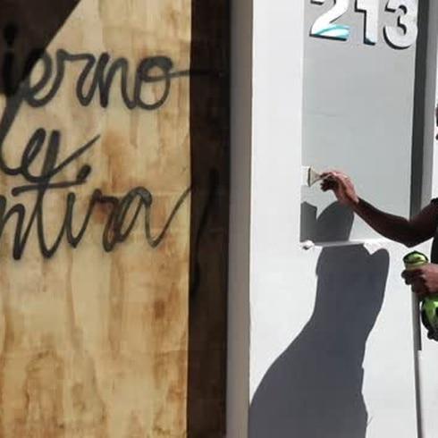 Pintan el Viejo San Juan tras protesta contra Wanda Vázquez