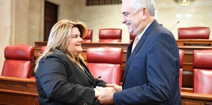 """""""Yo creo que Jenniffer González debe ser gobernadora este cuatrienio, lo antes posible"""", dijo Rivera Schatz la semana pasada, pero hoy dijo que la mandataria contará con el apoyo del Senado. (archivo)"""
