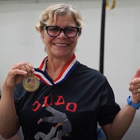 La judoca Lisa Boscarino recuerda su presea dorada en los Panamericanos 1987